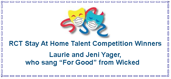 Text Box:  RCT Stay At Home Talent Competition